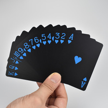 PVC Black Poker Blue And Red Design Playing Cards Plastic Waterproof Game Deck Card lenticular card and pvc clear cards plastic clear cards supply