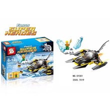 SY301 Super Heroes Batman with War Chariot VS Mr Freeze Diving Man Building Blocks Sets Compatible With Legominigifures
