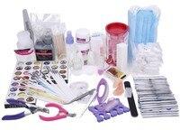 BTT 113 free shipping Acrylic Powder Nail Art Kit UV Gel Manicure DIY Tips Polish Brush Set