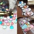 10 Unids Redonda Color Caramelo Gota de Agua Espárragos Nail DIY 3D Decoración Del Arte DIY Del Clavo de Los Rhinestones Todas Las Puntas de Las Uñas