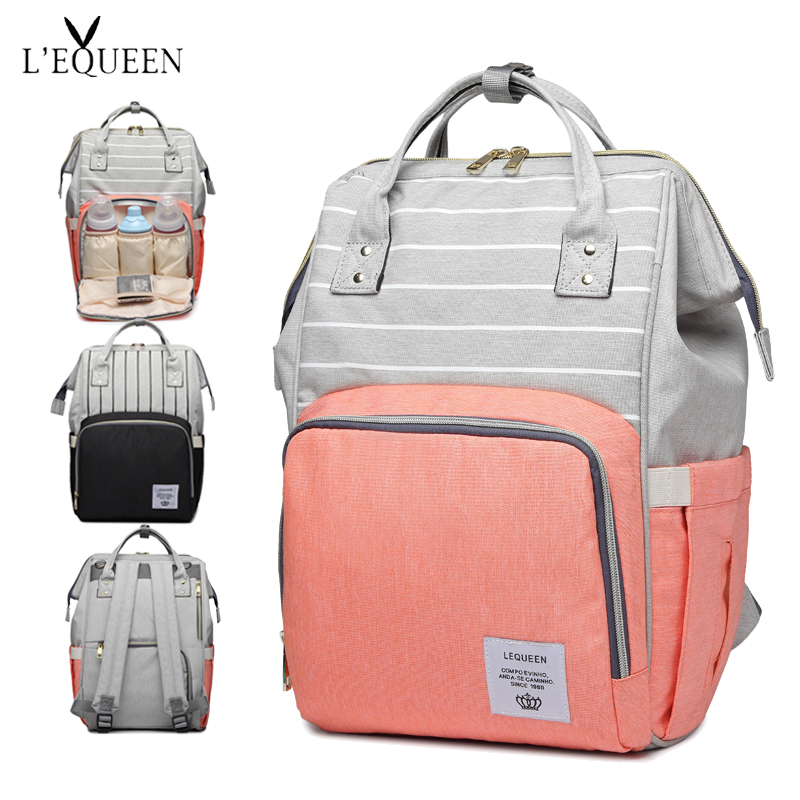 Fashion Baby Bag Stroller Diaper Bag Waterproof Baby Bags For Mom Backpack For Mom and Daddy diapers lequeen(China)