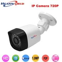 Heanworld 720 p hd güvenlik kamera 24 ir led gece görüş mini ip kamera su geçirmez cctv kamera açık destek app ve pc kamera