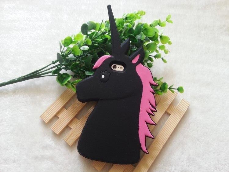 "HTB1ZslFKXXXXXX2XFXXq6xXFXXXM - Fashion 3D Cute Cartoon Unicorn Soft Silicon Rubber Case Cover For iPhone 4 4s 5 5s SE 6 7 6s plus 7 plus 4.7/5.5"" White Horse"
