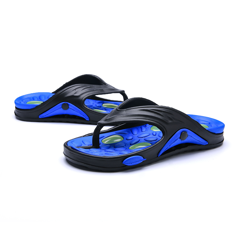 dfccadf0c ALEADER Summer Mens Flip Flops Cushion Insole Beach Shoes Massage Soft  Walking Rubber Flip Flops Causal Shower Water Slippers-in Flip Flops from  Shoes on ...