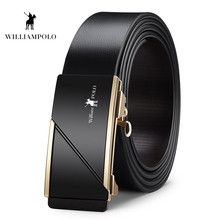 Williampolo 2019 Designer Luxury Long Automatic Buckle Belt Genuine Leather Fashion Brand For Men PL18466-48P