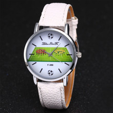 Montre Fashion Luxury Brand Women Watches Leather Quartz Football Dial Wristwatc
