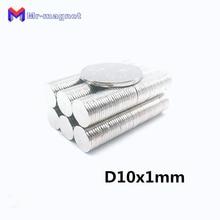 30 шт. 10×1 мм неодимовый магнит Брошь 10×1 оптом маленький круглый супер сильный редкоземельных магнитов диаметром 10×1 мм 10*1 нео магнит D10x1