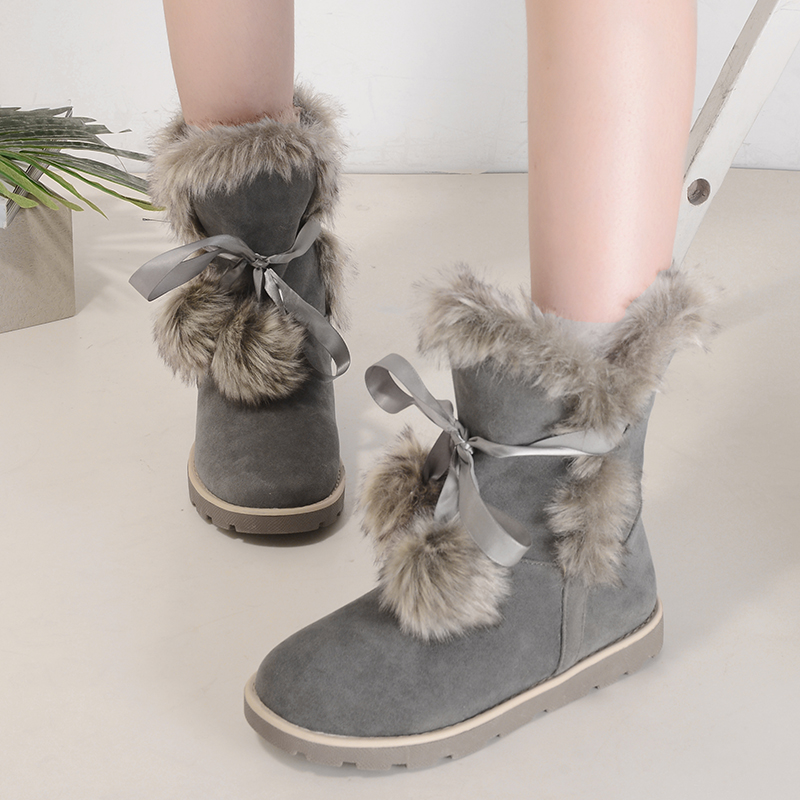 New Top Quality Women Snow font b Boots b font Natural Fur Warm Winter font b