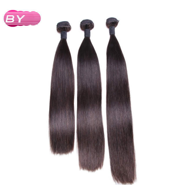 By Brazilian Straight Raw Hair Extension Remy Human Hair Bundle For