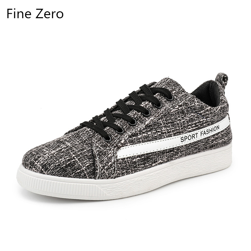 Fine Zero 2018 Men Canvas Shoes Breathable Classic Flat Male Brand Footwear Mens Causal Shoes New Summer Autum Sneakers for Men