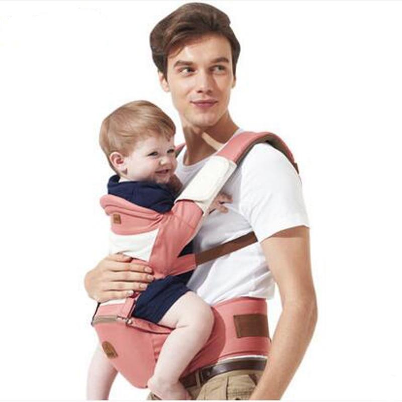 Multifuncional Ajustable Transpirable Malla Hebilla Abrigo Del Portador de Bebé Infantil Mochila Sling Canguro <font><b>Carrier</b></font> Toddler Portable