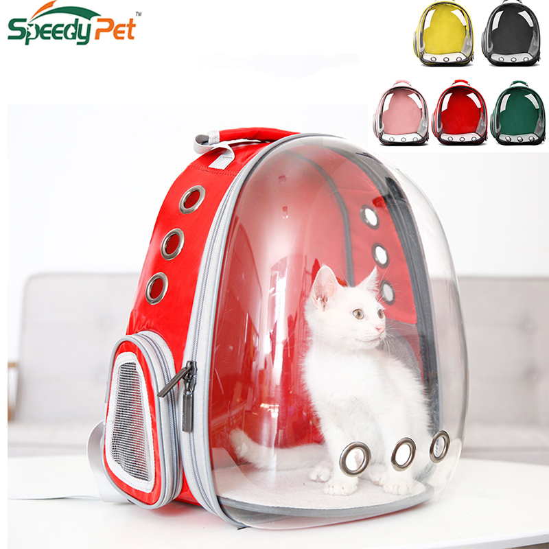 Wholesale 360 Sightseeing Creative Capsule Transparent Pet Backpack Puppy Carrier Travel Bag Airline Approved For Cat Dog