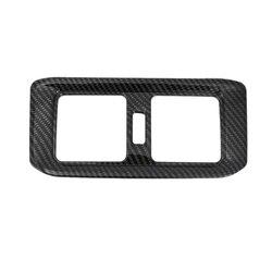 Samochód klimatyzacja wylot Vent pokrywa wykończenia podłokietnik Box pół paczki z tyłu dla Toyota Rav4 Rav 4 2019 2020 węgla styl z włókna samochodu w Nakładki  wirniki i kontakty od Samochody i motocykle na