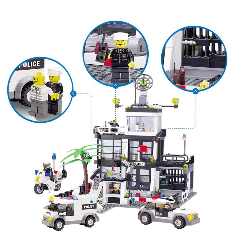 KAZI-Police-Station-Building-Blocks-Car-Styling-Building-Blocks-631-pcs-3D-Model-Blocks-Brinquedos-Playmobil (1)