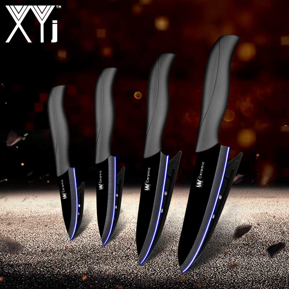 US $11.39 72% OFF|XYj Master Chef Ceramic Kitchen Knife Set 3