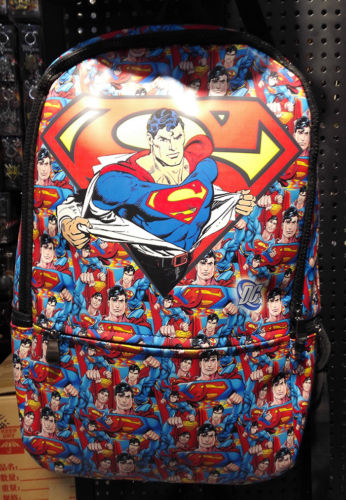 9bc117f216a DC Comics Superman Multi Leather Messenger school backpack Bag-in ...