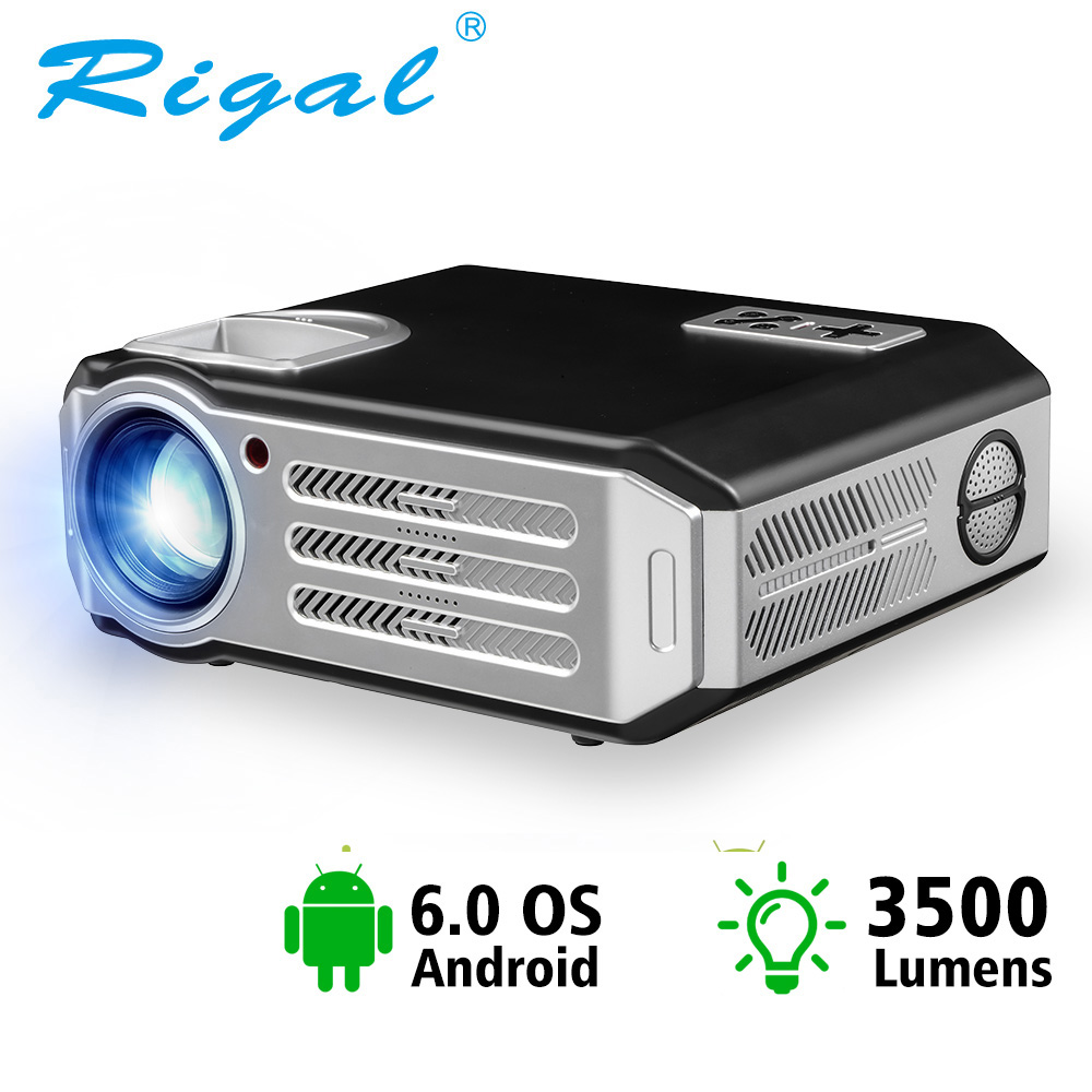 Rigal WIFI Projector Beamer Video RD817 Smart HDMI Lumens Full-Hd 1080P TV LED 3500 Home Theater