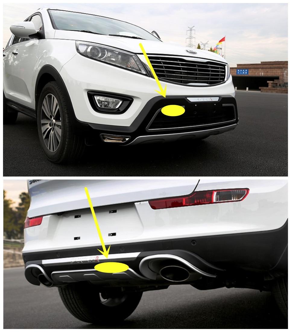 For KIA Sportage R 2015 BUMPER GUARD ( Front+Rear ) High Quality Luxury models Auto BUMPER Plate