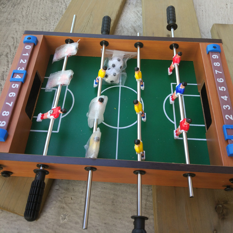table football. 14 inch soccer table football board game kids toy family party games wood portable travel tabletop set 34.5*23*7cm-in tables from sports
