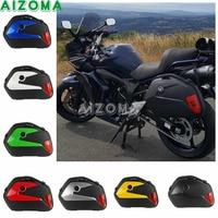 20L Motorcycle Universal Side Cases 2pcs Tail Pannier Luggage Cargo Box for Kawasaki Honda NC750X Yamaha BMW Suzuki Vstorm DL650