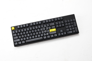 Image 4 - Kirsche profil Dye Sub Keycap Set dicken PBT kunststoff schwarz gelb gentleman für gh60 xd64 xd84 xd96 tada68 87 104 razer corsair