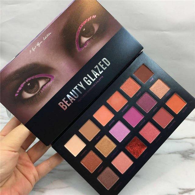 Paleta de sombra de ojos de 18 colores mate diamante brillo sombra de ojos Maquiagem maquillaje sombra de ojos paleta