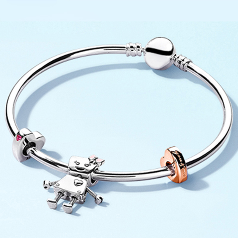 NEW 100% 925 Sterling Silver Brand New Bracelet Rose Bella And Friends Family Bracelet Set Suitable For DIY Robot GiftNEW 100% 925 Sterling Silver Brand New Bracelet Rose Bella And Friends Family Bracelet Set Suitable For DIY Robot Gift