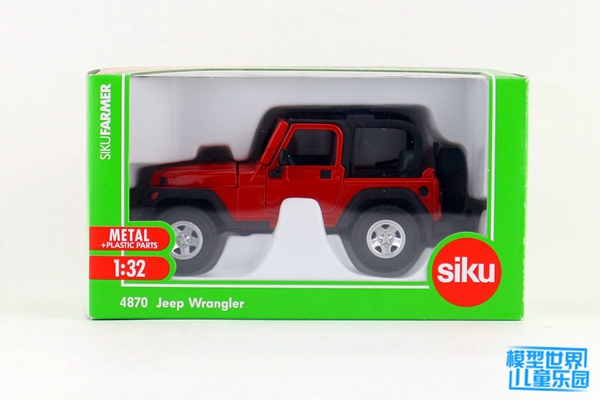 siku 4870 Fuoristrada Jeep Wrangler Sterzatura Ackermann 1:32 Meta