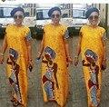 2017 Robe Africaine Vestidos Vestuário Africano Tradicional Africano Mulheres recém-Chegado por Tempo limitado Spandex Roupas de Algodão