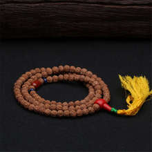 BRO599 Nepal 108 рудракша Бодхи для медитации и молитвы мала для йоги 8-9 мм с кисточкой хорошее качество