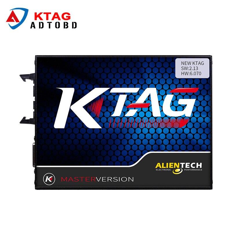 Prix pour Par DHL ship KTAG ECU Outil de Programmation V2.13 Firmware V6.070 K TAG Maître Version Non Jetons Limitée K-TAG ECU Chip Tuning Outil