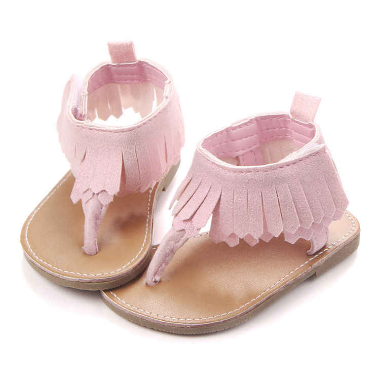 d5d832b9536 Infant Baby Girls Summer Crib Walking Sandals Infant New Soft Shoes 0-18  Months