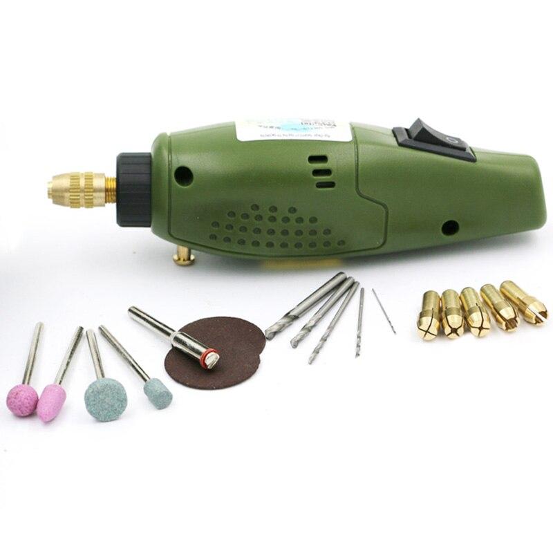 Meuleuse électrique Mini perceuse pour Dremel ensemble de meulage 12V Dc Dremel accessoires outil pour fraisage polissage forage coupe Engr