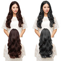 43cm 60cm 70cm Half Full Head Real Thick Clip in Hair Extensions TopAAA+ Synthetic Hairpiece 10Color Women Hairpiece Accessories