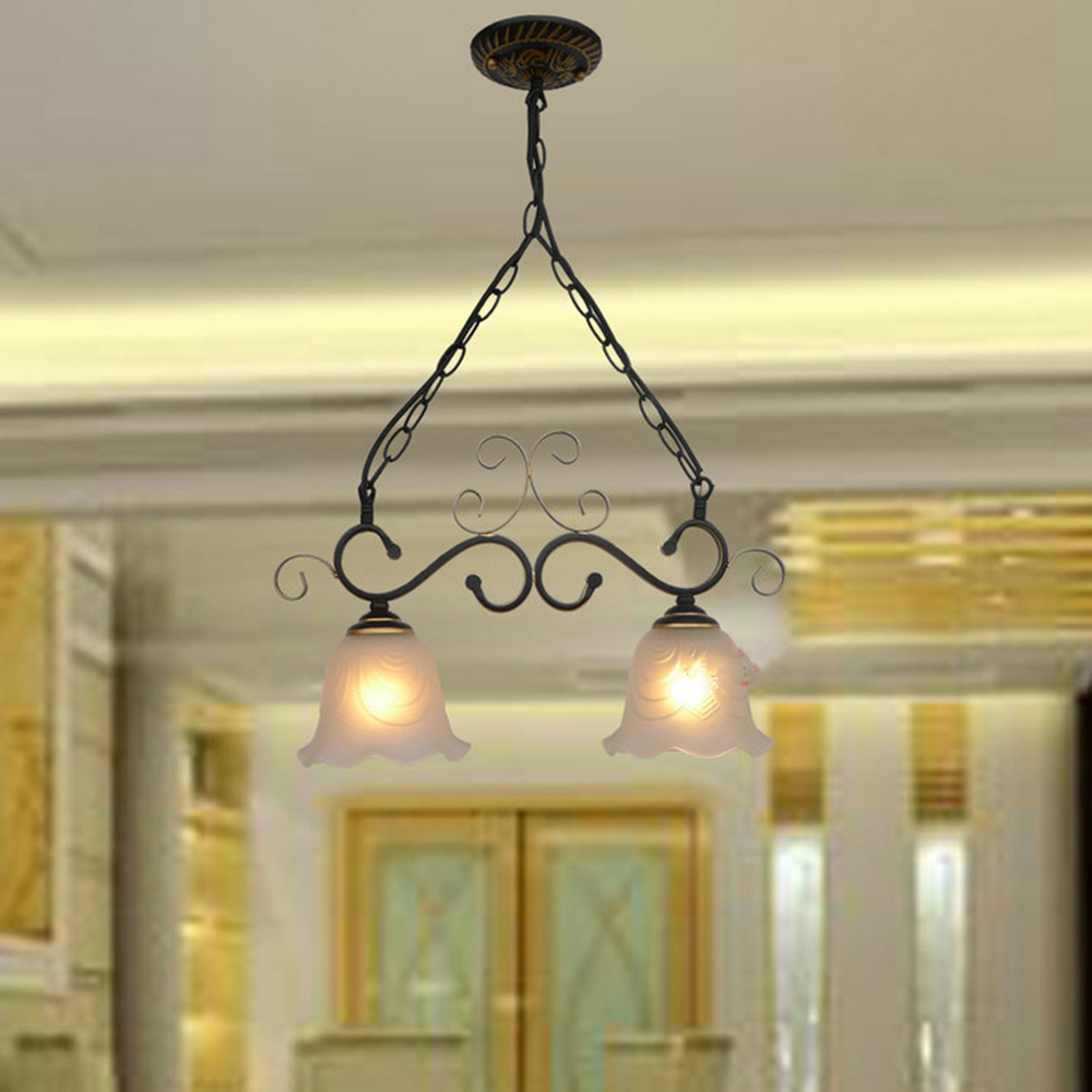 HGhomeart 1/2/3 Head Iron Vintage Pendant Light LED Lamp 110V-220V Pendant Lighting Suspension Luminaire Rustic Light Fixtures ems free shipping fashion pendant light cloth lamp cover crystal pendant light wrought iron candle lamp rustic lighting bq6 3