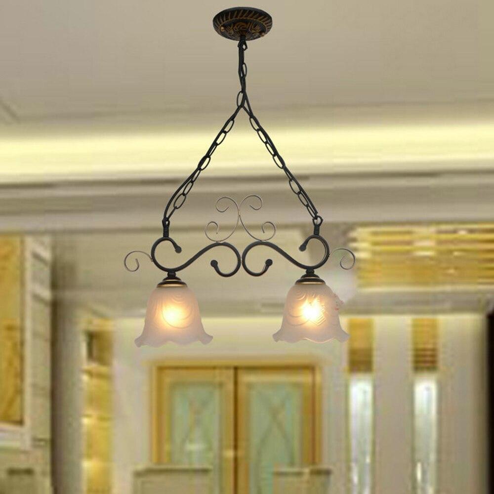 HGhomeart 1/2/3 Head Iron Vintage Pendant Light LED Lamp 110V 220V Pendant  Lighting Suspension Luminaire Rustic Light Fixtures