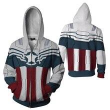 Marvel Jacket 3D hoodie Deadpool Sweatshirt Captain America Cosplay Costume Hoodies Men Hooded Avengers Zipper Jackets Outwear
