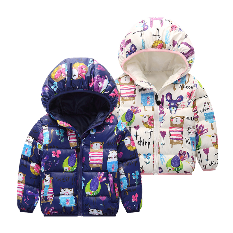 3-Colors Children Kids Coat Boys Girls Winter Jacket Warm hooded Down Jackets Teens Coats Windproof Boys Jacket Cartoon Clothes 2017 children jackets for boys girls winter down cotton coats kids thickening wadded jacket hooded parkas child coat