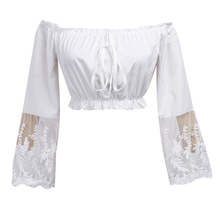 white lace blouse shirt Women casual top