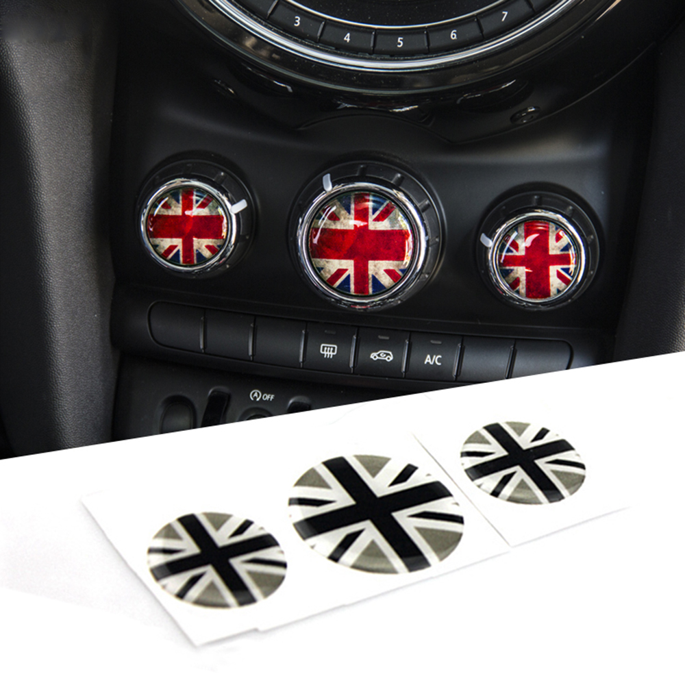Jack Car Interior Air Conditioning Switch Knobs Protection Stickers Decals Accessories For Mini Cooper JCW F55 F56 Car Styling