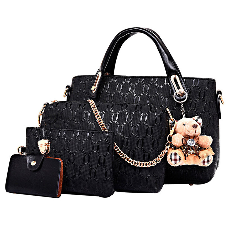 Image 3 - Famous designer SUUTOOP luxury brands women bag set good quality medium women handbag set  new women shoulder bag 4 piece Set-in Shoulder Bags from Luggage & Bags