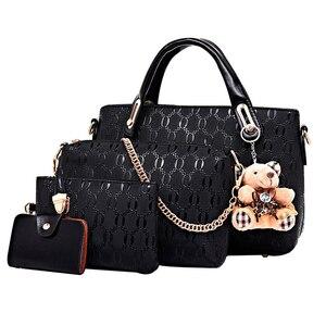 Image 3 - Znany projektant luksusowych marek kobiet torba zestaw dobrej jakości średni kobiet zestaw torebek nowych kobiet torba na ramię 4 częściowy zestaw