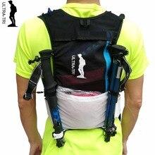 Mochila ULTRA TRI Trail Running para exteriores, ligera, hidratación, deporte, ciclismo, senderismo, Maratón, entrenamiento