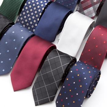 XGVOKH 20 Style Neck Tie Men Skinny necktie wedding ties Polyester Black Dot fashion Mens Business Bowtie Shirt Accessories