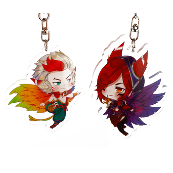 Game LoL League Of Legends Keychain Acrylic Figure Pendant Key Rings Bag Key Holder Accessories Anime Fans Gift 1