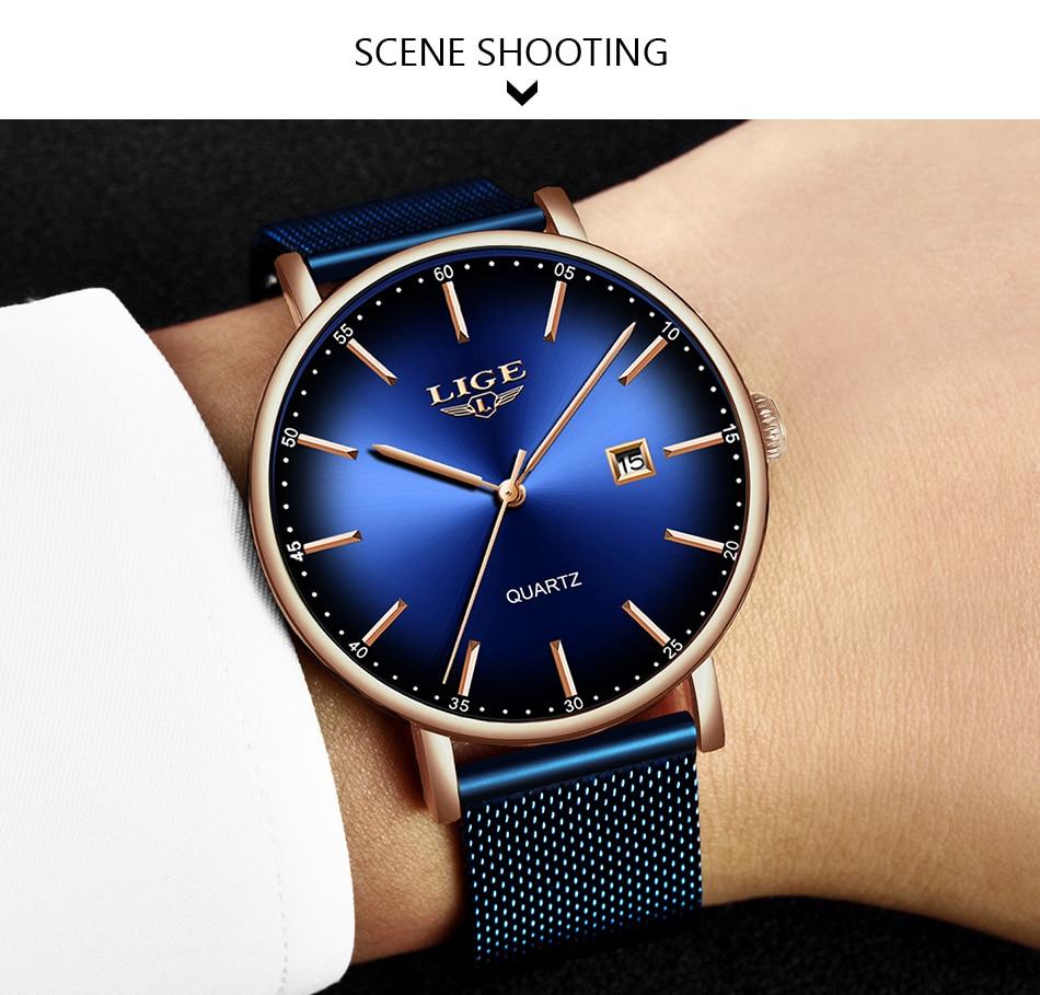 HTB1ZspLbeH2gK0jSZJnq6yT1FXaM LIGE Fashion Mens Watches Top Brand Luxury Blue Waterproof Watches Ultra Thin Date Simple Casual Quartz Watch Men Sports Clock
