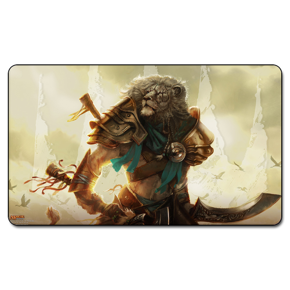 Many Playmat Choice AJANI, MENTOR OF HEROES PLAYMAT MGT Board Games Play Mat Magic Card Games Table Pad with Free Gift Bag