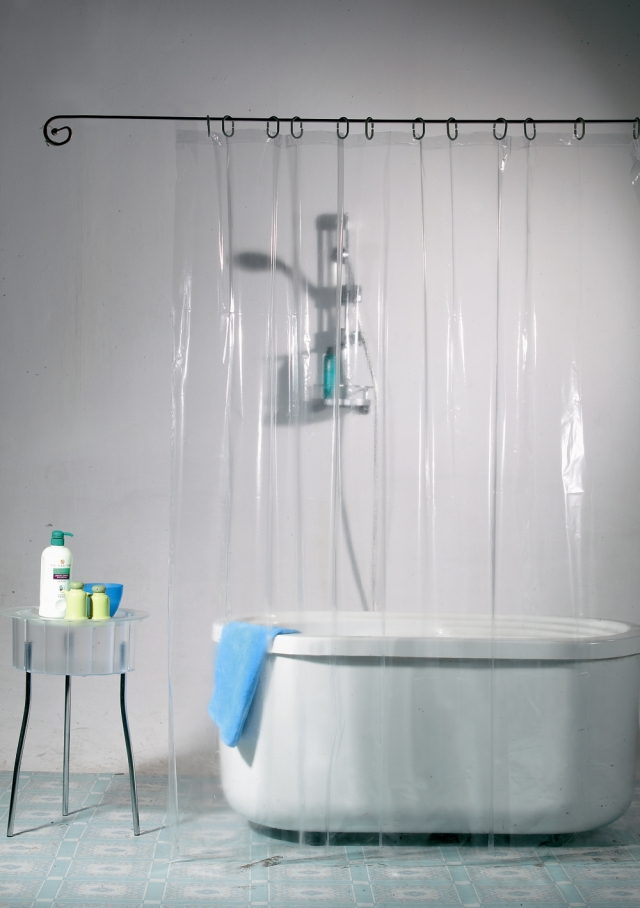 Shower <font><b>curtain</b></font> new arrival full transparent 12