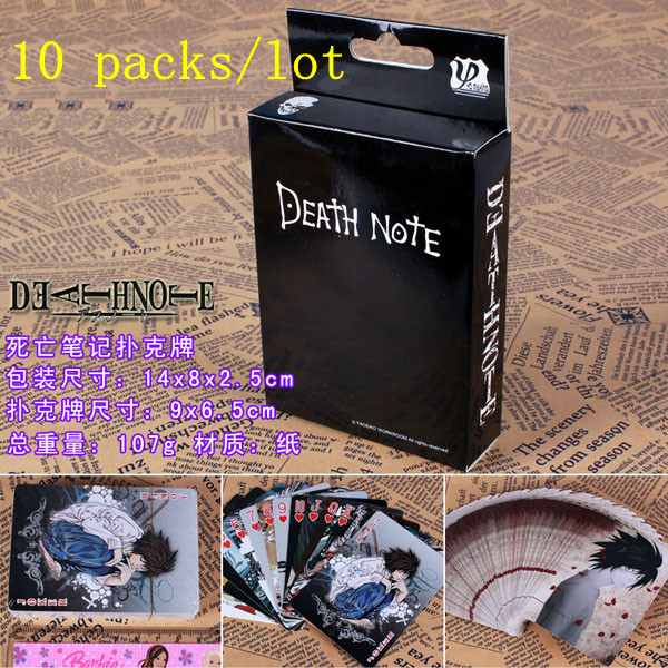 10 Packs/lot Anime Death Note Giocattoli Poker Carte Da Gioco Collection