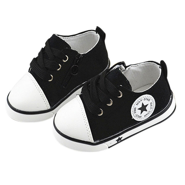 Estilo Simple y salvaje Bebé bandas elásticas zapatos del niño/zapatos Canvans Con estrella de cinco puntas patrón Super-soft soles tendón
